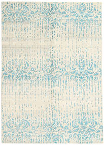 Himalaya Rug 166X238 Authentic  Modern Handknotted Beige/Turquoise Blue (Wool, India)