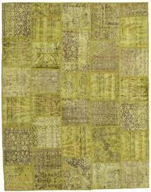 Patchwork Matto 197X254 Moderni Käsinsolmittu Oliivinvihreä (Villa, Turkki)