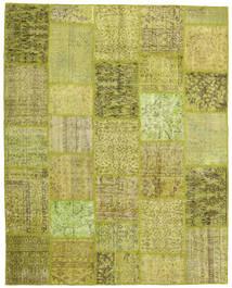 Patchwork Matto 199X249 Moderni Käsinsolmittu Oliivinvihreä/Keltainen (Villa, Turkki)