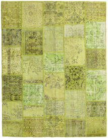 Patchwork Rug 199X258 Authentic  Modern Handknotted Light Green/Olive Green (Wool, Turkey)