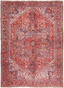 Heriz Rug 347X445 Authentic  Oriental Handknotted Dark Red/Rust Red Large (Wool, Persia/Iran)