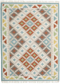 Summer Kilim Rug 210X290 Authentic  Modern Handwoven Light Grey/Light Brown (Wool, India)