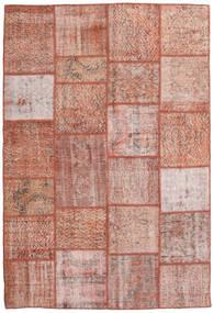 Patchwork Alfombra 158X233 Moderna Hecha A Mano Rosa Claro/Rojo Oscuro (Lana, Turquía)