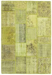 Patchwork Szőnyeg 138X202 Modern Csomózású Világoszöld/Olívazöld (Gyapjú, Törökország)
