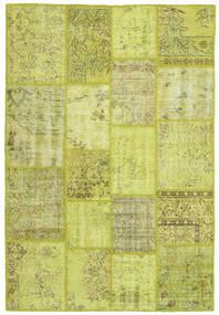 Patchwork Covor 138X205 Modern Lucrat Manual Lumina Verde/Verde Oliv (Lână, Turcia)