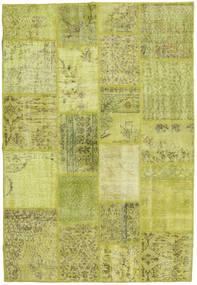 Patchwork Dywan 138X202 Nowoczesny Tkany Ręcznie Żółty/Zielony/Oliwkowy (Wełna, Turcja)