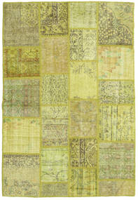Patchwork Rug 137X204 Authentic  Modern Handknotted Yellow/Light Green/Olive Green (Wool, Turkey)