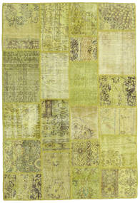 Patchwork Rug 138X205 Authentic  Modern Handknotted Yellow/Olive Green (Wool, Turkey)