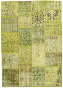 Patchwork Rug 140X202 Authentic  Modern Handknotted Light Green/Olive Green (Wool, Turkey)