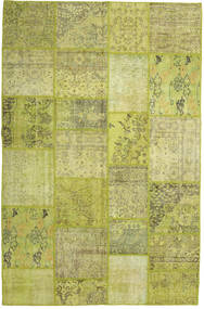 Patchwork Rug 199X304 Authentic  Modern Handknotted Olive Green/Yellow (Wool, Turkey)