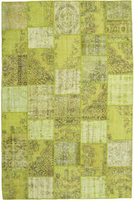 Patchwork Rug 198X300 Authentic  Modern Handknotted Light Green/Olive Green (Wool, Turkey)