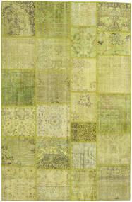 Patchwork Rug 198X305 Authentic  Modern Handknotted Olive Green/Yellow (Wool, Turkey)