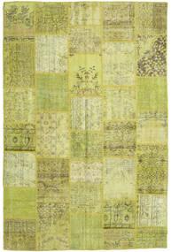 パッチワーク 絨毯 196X298 モダン 手織り オリーブ色/黄色 (ウール, トルコ)