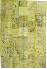 Patchwork Rug 205X306 Authentic  Modern Handknotted Olive Green/Yellow (Wool, Turkey)