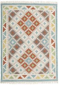 Summer Kilim Rug 160X230 Authentic  Modern Handwoven Light Grey/Light Brown (Wool, India)