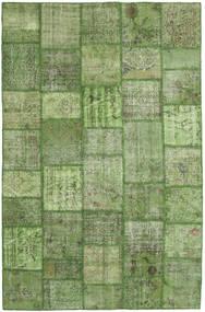 パッチワーク 絨毯 196X302 モダン 手織り 深緑色の/オリーブ色/ライトグリーン (ウール, トルコ)