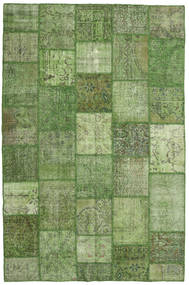 Patchwork Rug 196X300 Authentic  Modern Handknotted Dark Green/Light Green (Wool, Turkey)