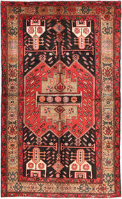 Nahavand Rug 140X235 Authentic  Oriental Handknotted Dark Brown/Dark Red (Wool, Persia/Iran)