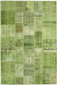 Patchwork Rug 200X300 Authentic  Modern Handknotted Light Green/Olive Green (Wool, Turkey)