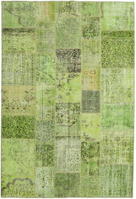 Patchwork Rug 198X296 Authentic  Modern Handknotted Light Green/Olive Green (Wool, Turkey)