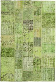 Patchwork Matto 198X296 Moderni Käsinsolmittu Vaaleanvihreä/Oliivinvihreä (Villa, Turkki)