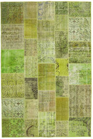 Patchwork Rug 201X300 Authentic  Modern Handknotted Light Green/Olive Green (Wool, Turkey)