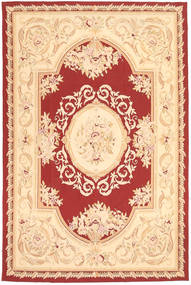 Aubouson Alfombra 184X281 Oriental Hecha A Mano Beige Oscuro/Beige/Rojo Oscuro (Lana, China)