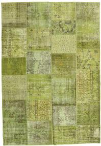 パッチワーク 絨毯 206X298 モダン 手織り ライトグリーン/オリーブ色 (ウール, トルコ)