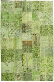 Patchwork Tapis 198X300 Moderne Fait Main Vert Clair/Vert Olive (Laine, Turquie)
