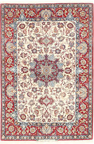 Isfahan Sherkat Farsh Signed :isfahan Baft Pardechi Rug 111X170 Authentic Oriental Handknotted Beige/Light Brown (Wool/Silk, Persia/Iran)