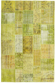 Patchwork Rug 198X300 Authentic  Modern Handknotted Yellow/Olive Green (Wool, Turkey)
