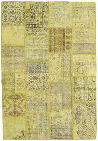 Patchwork Rug 159X232 Authentic  Modern Handknotted Yellow/Light Green (Wool, Turkey)