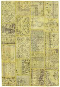 Patchwork Matto 158X233 Moderni Käsinsolmittu Keltainen/Oliivinvihreä/Vaaleanvihreä (Villa, Turkki)