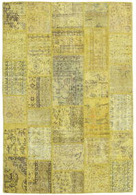 Patchwork Rug 158X234 Authentic  Modern Handknotted Yellow/Olive Green (Wool, Turkey)