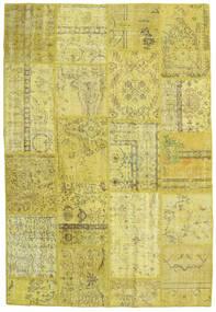 Patchwork Matto 157X234 Moderni Käsinsolmittu Keltainen/Oliivinvihreä (Villa, Turkki)