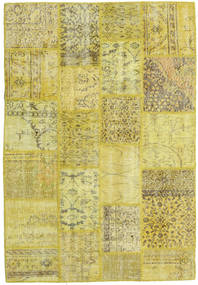 Patchwork Rug 138X200 Authentic  Modern Handknotted Yellow/Olive Green (Wool, Turkey)