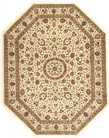 Tabriz Royal Rug 246X313 Authentic  Oriental Handknotted Light Brown/Yellow ( India)