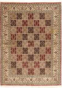 Tabriz Rug 173X240 Authentic  Oriental Handknotted Light Brown/Brown (Wool, India)