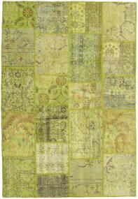 Patchwork Tappeto 158X232 Moderno Fatto A Mano Verde Oliva/Giallo (Lana, Turchia)