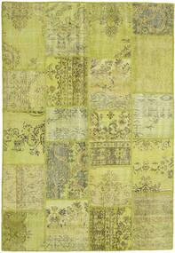 Patchwork Matto 158X235 Moderni Käsinsolmittu Oliivinvihreä/Keltainen (Villa, Turkki)