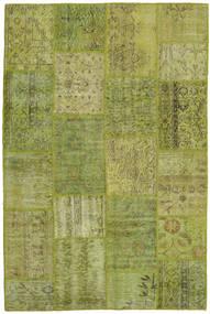 Patchwork Teppe 156X238 Ekte Moderne Håndknyttet Olivengrønn/Lysgrønn (Ull, Tyrkia)