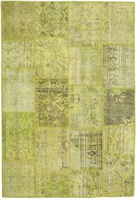 Patchwork Tappeto 157X233 Moderno Fatto A Mano Verde Oliva/Giallo/Verde Chiaro (Lana, Turchia)