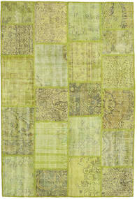 Patchwork Tappeto 160X236 Moderno Fatto A Mano Verde Chiaro/Verde Oliva (Lana, Turchia)
