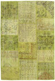 Patchwork Matto 156X233 Moderni Käsinsolmittu Oliivinvihreä/Vaaleanvihreä (Villa, Turkki)