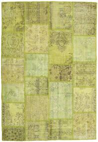 Patchwork Tappeto 160X232 Moderno Fatto A Mano Verde Chiaro/Verde Oliva (Lana, Turchia)