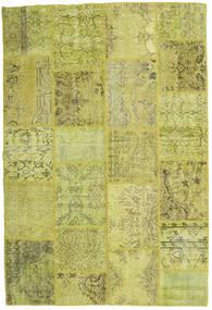 Лоскутные Ковер 157X234 Современный Ковры Ручной Работы Желтый/Оливковый (Шерсть, Турция)
