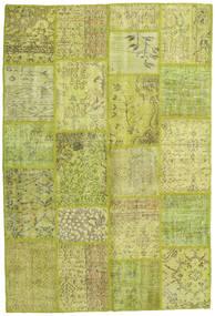 Patchwork Dywan 158X234 Nowoczesny Tkany Ręcznie Żółty/Jasnozielony/Zielony/Oliwkowy (Wełna, Turcja)