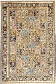 Qum Kork/Silk Rug 208X317 Authentic  Oriental Handknotted Dark Beige/Brown (Wool/Silk, Persia/Iran)