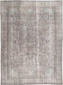 Colored Vintage Rug 276X378 Authentic  Modern Handknotted Light Grey/Dark Grey Large (Wool, Pakistan)