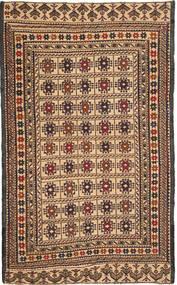 キリム ゴルバリヤスタ 絨毯 122X195 オリエンタル 手織り 濃い茶色/暗めのベージュ色の (ウール, アフガニスタン)